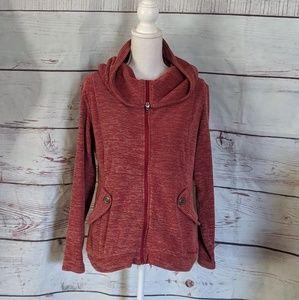Merrell Fleece Hooded Jacket Size Medium